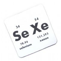 Chemical Periodic Table Sexe Design Coaster